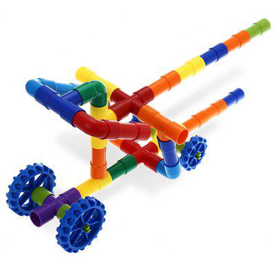 Plastic Tube Educational Water Pipe Building Block - 40pcs / set