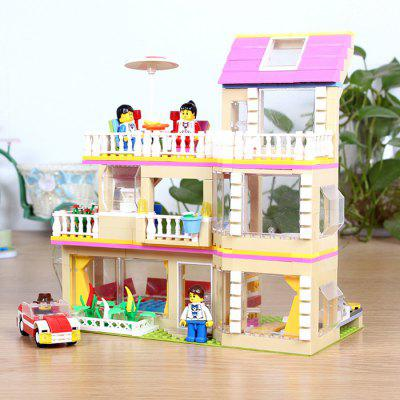 Figure House Style Cartoon ABS Building Brick
