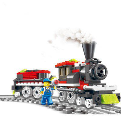 Train Theme Cartoon ABS Building Brick