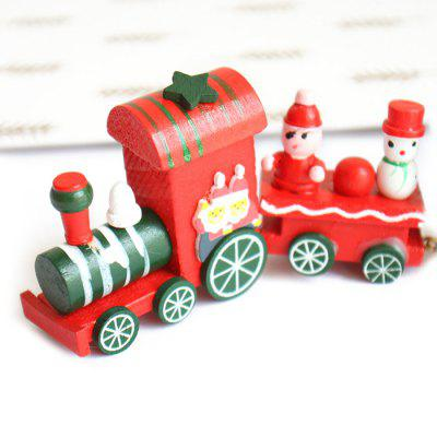 Cartoon Christmas Wood Train Table Decoration