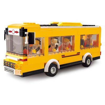 Cartoon Bus ABS Cartoon Building Brick