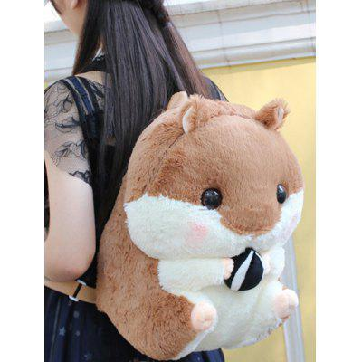 Adorable Soft Plush Hamster Backpack Students Bag