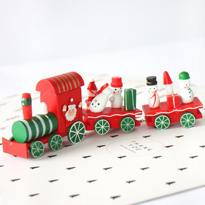 Buy Cartoon Christmas Wood Train Table Decoration RED AND GREEN