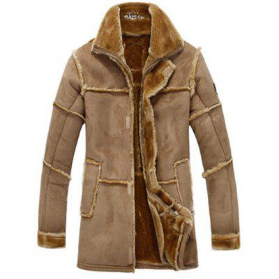 JUSTWIN One Fur Long Jacket