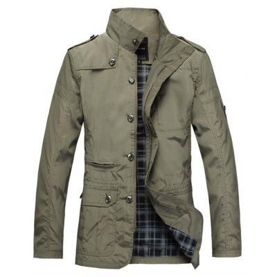 Patched Water-resistant Slim Fit Windbreaker Jacket футболка wearcraft premium slim fit printio акула