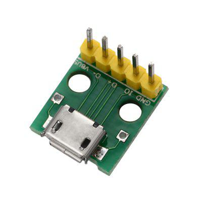 DIY Micro USB Interface to 2.54mm DIP 5P Adapter Module