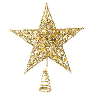 Star Christmas Tree Decoration with Shimmering Powder