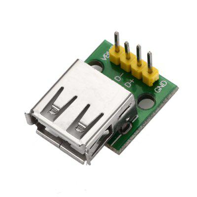 DIY Type A Female USB to 2.54mm DIP 4P Adapter Module