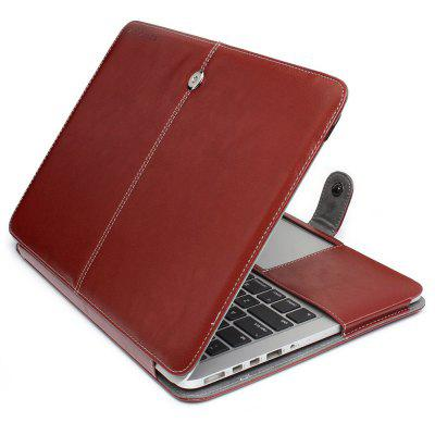ENKAY PU Leather Full Body Cover Case for MacBook Pro 15.4 inch with Retina Display