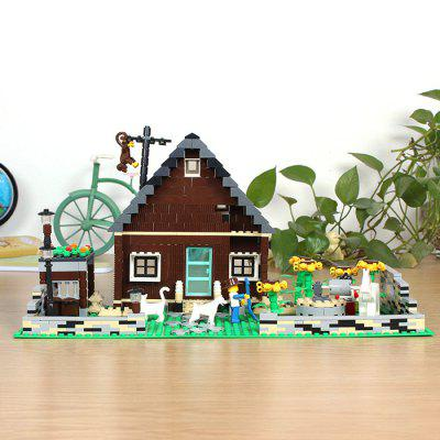 Figure House Style Cartoon ABS Building Brick Toy