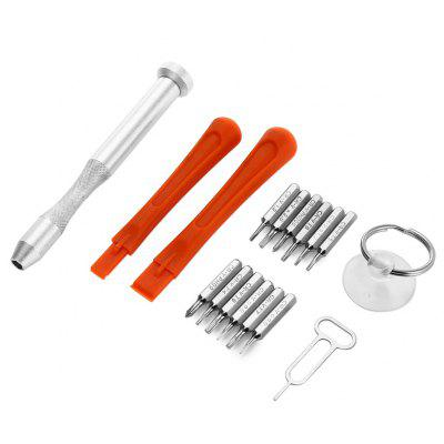 17 in 1 Screwdriver Tool Kit for Mobile Phone Disassembling with Suction Cup
