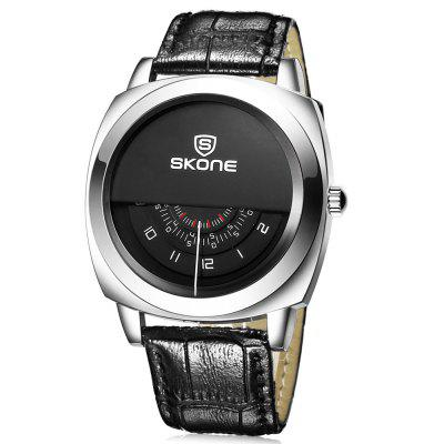 SKONE 1204 Fashion Half Dial Design Men Quartz Watch