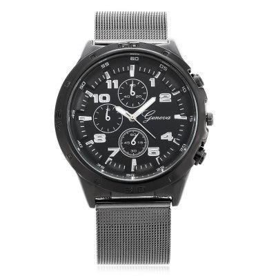 Geneva 449 Casual Men Quartz WatchMens Watches<br>Geneva 449 Casual Men Quartz Watch<br><br>Available Color: Black,Blue,Red,White<br>Band material: Steel<br>Band size: 24.5 x 2.2 cm / 9.65 x 0.87 inches<br>Brand: Geneva<br>Case material: Alloy<br>Clasp type: Pin buckle<br>Dial size: 4.3 x 4.3 x 1.5 cm / 1.69 x 1.69 x 0.59 inches<br>Display type: Analog<br>Movement type: Quartz watch<br>Package Contents: 1 x Geneva 449 Casual Men Quartz Watch<br>Package size (L x W x H): 25.50 x 5.30 x 2.50 cm / 10.04 x 2.09 x 0.98 inches<br>Package weight: 0.102 kg<br>Product size (L x W x H): 24.50 x 4.30 x 1.50 cm / 9.65 x 1.69 x 0.59 inches<br>Product weight: 0.079 kg<br>Shape of the dial: Round<br>Watch style: Casual<br>Watches categories: Male table<br>Wearable length: 18.2 - 22.5 cm / 7.17 - 8.86 inches