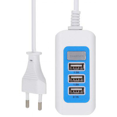 3 USB Output Power Adapter Wall Charger