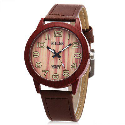 Original Miler 83121 Neutral Quartz Watch with Leather Band