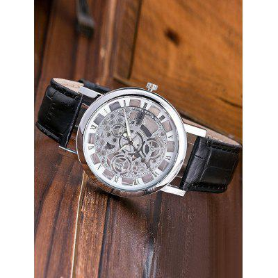 Roman Numerals Hollow Out Dial Quartz Watch