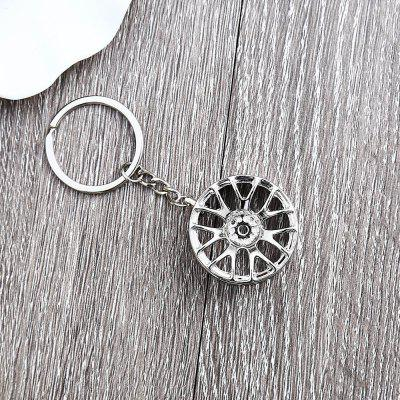 Wheel Hub Alloy Key Chain Wallet Decor - 3.54 inch