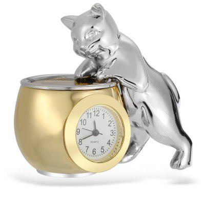 Stylish Cat with Tank Shape Quartz Watch