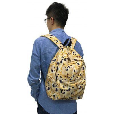 Cute Doge Cartoon Print Canvas Backpack
