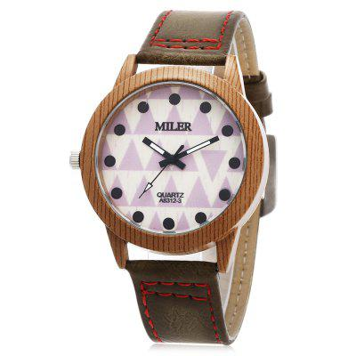 Original Miler 83123 Neutral Quartz Watch with Triangular Pattern