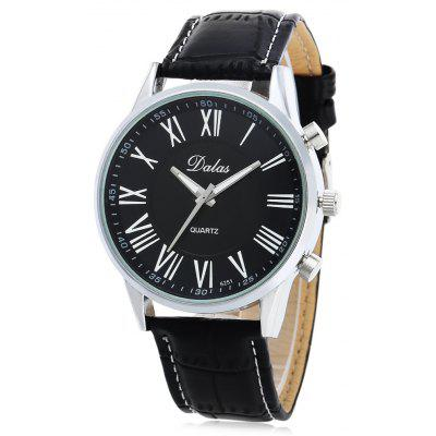 Dalas 6251 Fashion Roman Number Scale Men Quartz Watch
