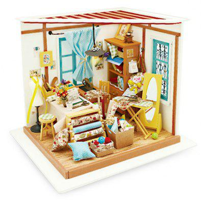 Doll House Miniature DIY Tailor Handicraft Toy Christmas Present