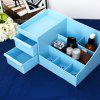 Multifunctional Cosmetic Storage Box Case - BLUE