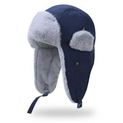 Stylish Rabbit Fur Fluffy Leifeng Hat with Earmuffs