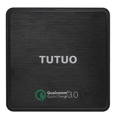 TUTUO QC - 025P Qualcomm Certification USB Wall ChargerChargers &amp; Cables<br>TUTUO QC - 025P Qualcomm Certification USB Wall Charger<br><br>Brand: TUTUO<br>Cable Length (cm): 100cm<br>Color: Black<br>Features: ALL-in-1<br>Input: 100 - 240V,  50 / 60Hz, 1A<br>Material ( Cable&amp;Adapter): ABS<br>Output: 3.6 - 6.5V 3A, 6.5 - 9V 2A, 9 - 12V 1.5A, 5V 2.4A ( smart output )<br>Package Contents: 1 x USB Charger, 1 x Power Cable, 1 x English User Manual<br>Package size (L x W x H): 17.70 x 14.00 x 4.70 cm / 6.97 x 5.51 x 1.85 inches<br>Package weight: 0.324 kg<br>Plug: EU plug,US plug<br>Product size (L x W x H): 8.10 x 8.10 x 3.20 cm / 3.19 x 3.19 x 1.26 inches<br>Product weight: 0.236 kg<br>Type: Adapters