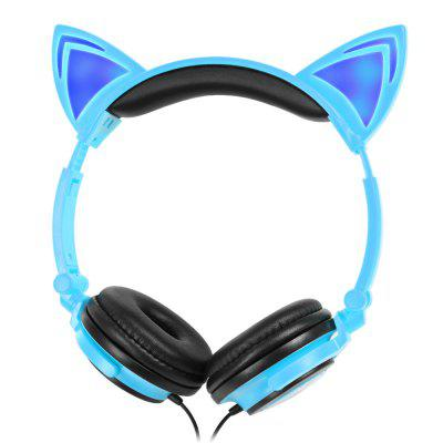 LX - 107 Wired Foldable Cat Ear Design Cute Headphones