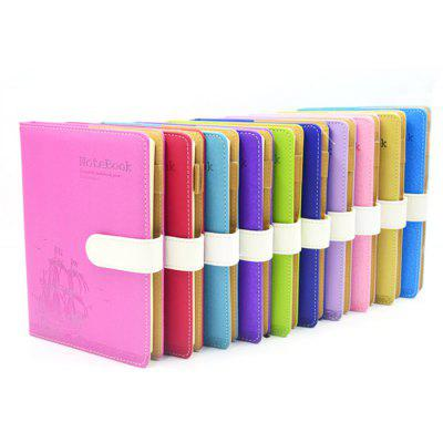Leather Cover Notebook with Magnetic Snap