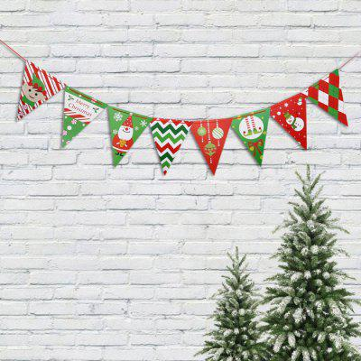 Christmas Cute Cartoon Triangle Wave Flag Banner