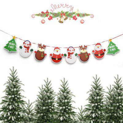 Christmas Cute Cartoon Wave Flag Banner