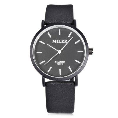 MILER A9003 Casual Pure Color Men Quartz WatchMens Watches<br>MILER A9003 Casual Pure Color Men Quartz Watch<br><br>Available Color: Black,Blue,Coffee,Gray,White<br>Band material: PU Leather<br>Band size: 24.2 x 1.8 cm / 9.53 x 0.71 inches<br>Brand: Miler<br>Case material: Alloy<br>Clasp type: Pin buckle<br>Dial size: 3.6 x 3.6 x 0.9 cm / 1.42 x 1.42 x 0.35 inches<br>Display type: Analog<br>Movement type: Quartz watch<br>Package Contents: 1 x MILER A9003 Casual Men Quartz Watch, 1 x Box<br>Package size (L x W x H): 8.50 x 8.00 x 5.00 cm / 3.35 x 3.15 x 1.97 inches<br>Package weight: 0.088 kg<br>Product size (L x W x H): 24.20 x 3.60 x 0.90 cm / 9.53 x 1.42 x 0.35 inches<br>Product weight: 0.028 kg<br>Shape of the dial: Round<br>Watch style: Casual<br>Watches categories: Male table<br>Wearable length: 18 - 22.3 cm / 7.09 - 8.78 inches