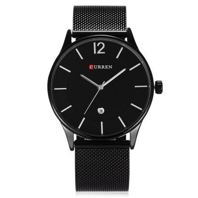 CURREN 8231 Business Men Quartz WatchMens Watches<br>CURREN 8231 Business Men Quartz Watch<br><br>Band material: Stainless Steel<br>Band size: 25.5 x 2.2 cm / 10.04 x 0.87 inches<br>Brand: Curren<br>Case material: Stainless Steel<br>Clasp type: Hook buckle<br>Dial size: 4.2 x 4.2 x 0.9 cm / 1.65 x 1.65 x 0.35 inches<br>Display type: Analog<br>Movement type: Quartz watch<br>Package Contents: 1 x CURREN 8231 Business Men Quartz Watch, 1 x Box<br>Package size (L x W x H): 11.50 x 8.50 x 7.00 cm / 4.53 x 3.35 x 2.76 inches<br>Package weight: 0.205 kg<br>Product size (L x W x H): 25.50 x 4.20 x 0.90 cm / 10.04 x 1.65 x 0.35 inches<br>Product weight: 0.074 kg<br>Shape of the dial: Round<br>Special features: Date<br>Watch color: Black, Blue + Black, Silver + Black , Black + Rose Gold , Silver + White<br>Watch style: Business<br>Watches categories: Male table<br>Water resistance: Life water resistant