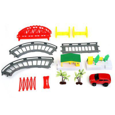 Children DIY Multi-track Rail Car Educational Toy