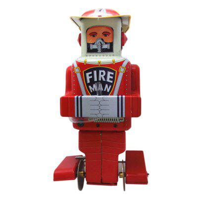 Walking Firefighting Robot Tin Retro Vintage Gift