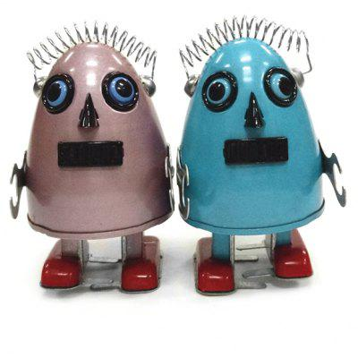 Walking Egg Shape Robot Tin Retro Vintage Gift