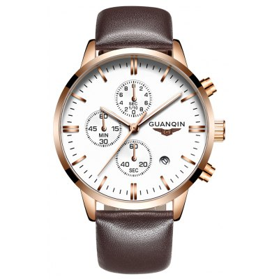 Buy GUANQIN GQ12006 Fashion Men Quartz Watch, GOLD AND WHITE, Watches & Jewelry, Men's Watches for $37.47 in GearBest store
