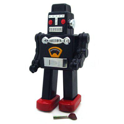 Wind Up Metal Robot Clockwork Walking Tin Kid Toy