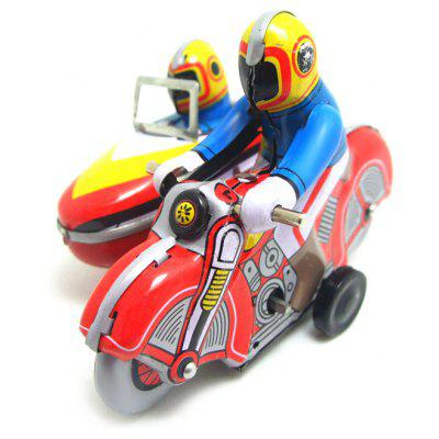 Walking Autobike Tin Retro Vintage Mechanical Kid Gift
