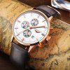 GUANQIN GQ12006 Montre Homme Quartz - OR ET BLANC