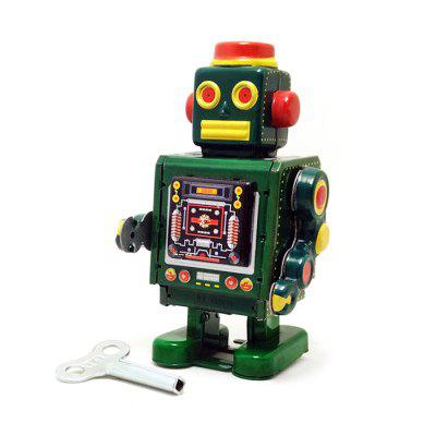 Wind-up Robot Walking Tin Retro Vintage Present