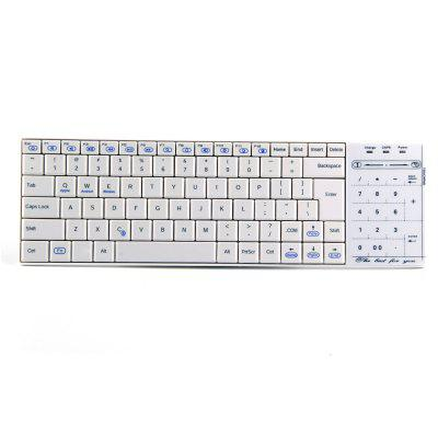 BT10 Bluetooth Wireless Keyboard with Numeric Keypad / Mouse Switch Touchpad
