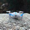 Z201YS 2.4GHz 4CH Mini Foldable RC Drone - RTF - WHITE