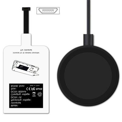 Qi Standard Wireless Charger Micro USB Charging Receiver Kit