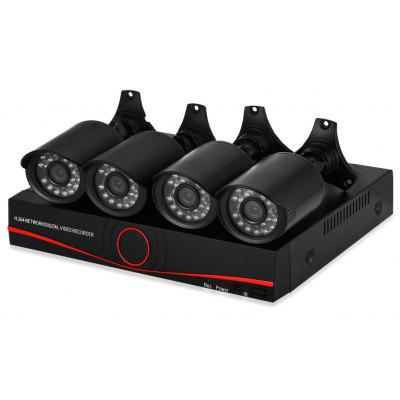 TP1004BS 720P AHD DVR Kit Security Camera System