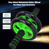 Two-wheel Abdominal Roller Wheel for Home Gym Exercises - BLACK AND GREEN