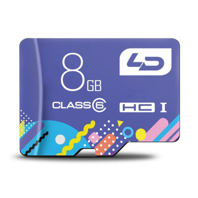 LD Colorful Edition 8GB Micro SDHC Memory Card