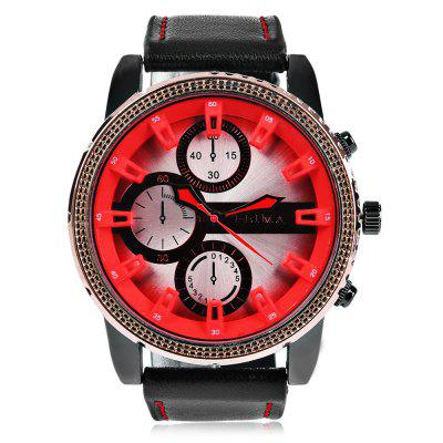 FEIMA 1205 Fashion Men Quartz WatchMens Watches<br>FEIMA 1205 Fashion Men Quartz Watch<br><br>Band material: Leather<br>Band size: 26.8 x 2.5 cm / 10.55 x 0.98 inches<br>Brand: FEIMA<br>Case material: Alloy<br>Clasp type: Pin buckle<br>Dial size: 5 x 5 x 1.6 cm / 1.97 x 1.97 x 0.63 inches<br>Display type: Analog<br>Movement type: Quartz watch<br>Package Contents: 1 x FEIMA 1205 Fashion Men Quartz Watch, 1 x Box<br>Package size (L x W x H): 8.50 x 8.00 x 5.30 cm / 3.35 x 3.15 x 2.09 inches<br>Package weight: 0.137 kg<br>Product size (L x W x H): 26.80 x 5.00 x 1.60 cm / 10.55 x 1.97 x 0.63 inches<br>Product weight: 0.077 kg<br>Shape of the dial: Round<br>Watch color: Black, Light Blue, Red, Blue<br>Watch style: Fashion<br>Watches categories: Male table<br>Wearable length: 20.3 - 24.2 cm / 7.99 - 9.53 inches